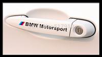 HIgh Quality Computer Draw Car Door Handle decals Doorknob Stickers for BMW M Tech Motosport sport sticker refit wholesale