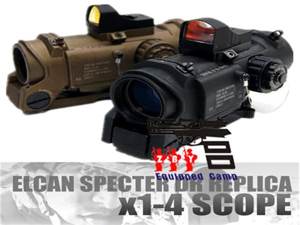 Elcan SOCOM призрак DR 1X-4X красной подсветкой прицел коллиматорный красный точка зрения черный / тан