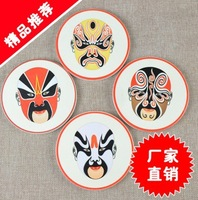 4pcs/lot facial type Mug pad DIY Cuppad creative Chinese facial type pattern Tablemat  4 styles free shipping