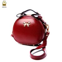 2014 vintage circle mini cross-body bag butterfly shoulder fashion women's handbag high quality PU faux leather messenger bags