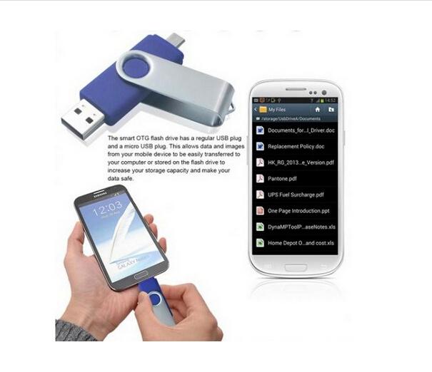 Christmas Gift!2014 new style OTG usb flash drive/OTG mobile usb stick/Phone usb pendrive 4gb/8gb/16gb/32gb with gift box(China (Mainland))