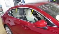 Car Styling Stainless Steel Chrome Upper Window Trim 4pcs/set Refit For New MAZDA 3 AXELA 2013 2014