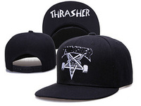 Free Shipping, THRASHER Snapback Caps, Five Star Caps, Street Fashion Hats, Bar King, Hip Hop Flap Brim Caps