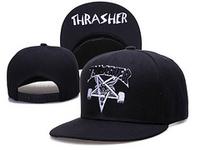 Free Shipping, THRASHER Snapback Caps, Five Star Caps, Street Fashion Hats, Bar King, Hip Hop Flap Brim Caps