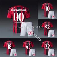 2014 AC milan home soccer uniforms jerseys football socks Torres Kaka montolivo el shaarawy de siglio honda Menez Abate maldini