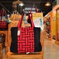 Trend women's handbag fashion cloth portable one shoulder cross-body bag casual canvas bag big bag