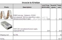 invoice to Kristian