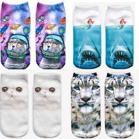 Fashion 3D Printed Animal Unisex Cute Low Cut Ankle Socks frozen children girls socks meias boys socks
