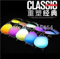Colorful hot sale women men unisex vintage sunglasses of Europe designer brand,pilot style classic fashion glasses male female