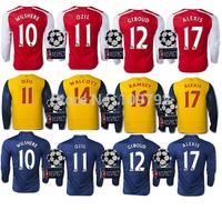 2014-15 UEFA League long sleeve shirt ALEXIS 17 OZIL 11 soccer jersey WILSHERE RAMSEY GIROUD WALCOTT Football shirt UCL+Respect