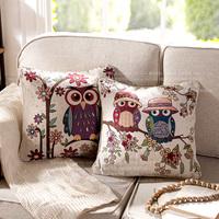 High quality american cotton yarn sofa ofhead cushion pillow case owl cushion cover