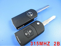 free shipping  Brand New Folding Remote auto key Car Starter 2 Button For Mazda 315MHz With 4D63 Chip Part # KR55WK43451