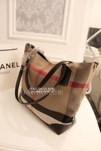 women leather handbags of famous brands Winter 2014 Women s British style plaid handbag canvas shoulder