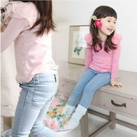 1PC (2-7Yrs) Children kids baby Girl's Jeans pants denim Pencil pants for girls cowboys freeshipping