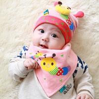 Korean Fashion Caterpillars Baby Hat Clothing Accessories Baby Scarf Bandage Bibs Cotton