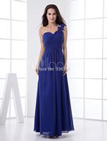 Elegant Royal Blue Floor Length One Shoulder Bridesmaid Dress Party Prom Gowns Dresses plus size dresses under $50