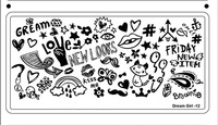1PC 16Design for choose  Dream girl   Nail Art Stamp Stamping  6CM*12CM Stainless Steel Image Plate  Template freeshipping