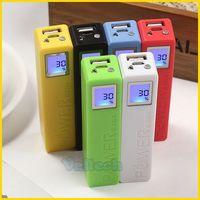 2600mah Perfume Portable Power Bank With Digital LCD Display & Led Flashlight External Emergency USB Backup Charger Pack