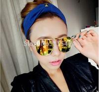 Pilot style Europe vintage women fashion sunglasses outdoors,designer brand metal Earstem female elegant UV fashion glasses