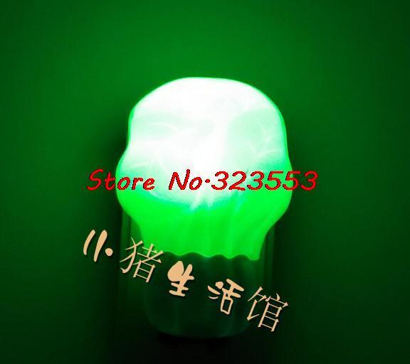LED night light control induction electrical automatic control Wall lamp baby lamp night light sleep wake up light(China (Mainland))