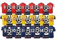 2014-15 UEFA  League ALEXIS 17 OZIL 11 soccer jersey WILSHERE RAMSEY GIROUD CAZORLA PODOLSKI WALCOTT Football shirt UCL+Respect