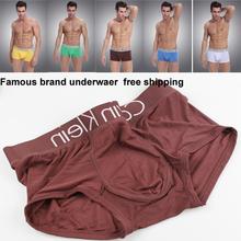 1pcs lot 2014 new best price cueca boxer short underwear men Modal fiber Simple and comfortable boxers(China (Mainland))