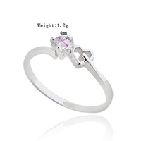 Chic 14K Gold White Gold Plated Ring Artificial Gemstone Jewelry  638191-638192-638193-638194