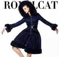 Free shipping EMS !!! 2014 fashion women's winter jacket ,S-XXL,big size.warm jacket ,royalcat Cebus apella female clothing