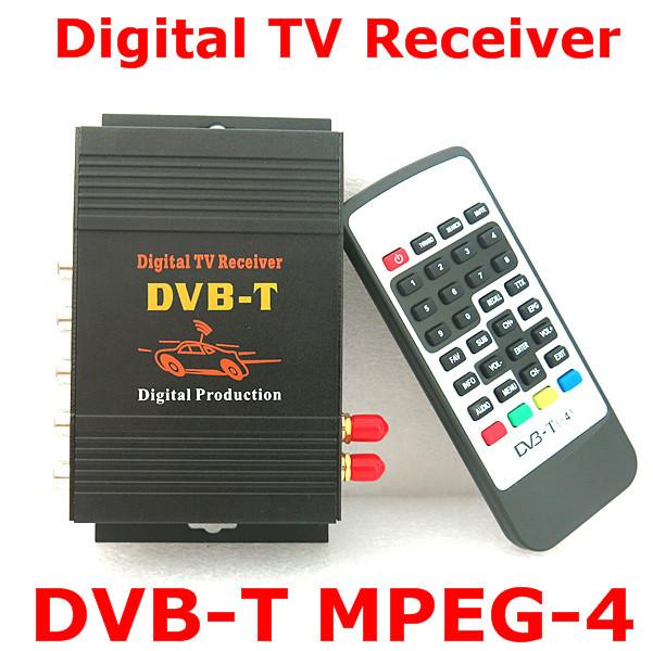 DVB-T Car dual-tuner 140-190km/h TV Box DVB-T(SD) MPEG2 and MPEG4 AVC/H.264 DVB T Digital TV Receiver Middle East, Australia(China (Mainland))