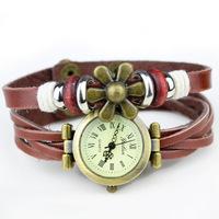 Bracelet Retro Vintage Watch for Ladies quartz watch Rome rivet retro hours Leather Strap Casual watches women dress watch