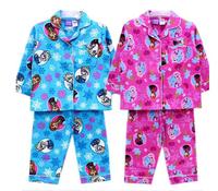 Retail one piece Free shipping FROZEN anna elsa flannel flannelette winter pyjamas pajamas sleepwear Pjs 2 color