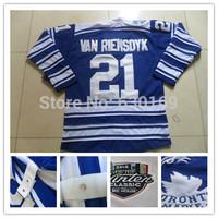 2014 winter classic Toronto Men 21 James vanRIEMSDYK Blue Ice Hockey Jerseys cheap,Embroidery logos, free shipping