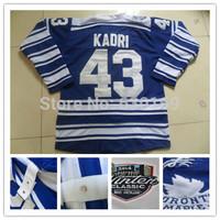 2014 winter classic Toronto Men 43 Nazem Kadri  Blue Ice Hockey Jerseys cheap,Embroidery logos, free shipping