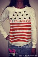 NEW Gagaopt DKN clip cotton fleece stars pullover women winter sweatshirt