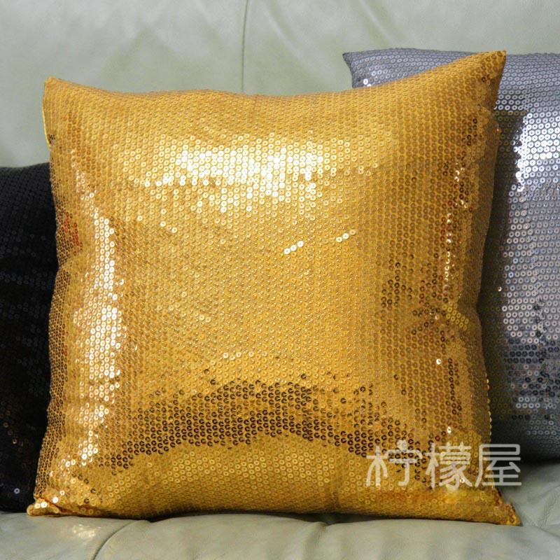 Achetez en gros d 39 argent paillettes oreiller en ligne des grossistes d - Gros coussin de canape ...