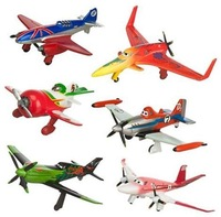 6 Pcs/Lot Pixar Planes 6cm-8cm Plastic Dusty Planes Airplane Model Classic Toys For Children Gifts Doll Free Shipping