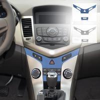 Chrome Car Auto Interior Center Console Protective Trim Stickers For Chevrolet Cruze 2008-2014  ECA02060