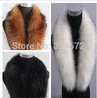 Hot Selling! Winter Women's Fox fur collar fur scarf raccoon fur wool muffler scarf vigoreux cap of cape multicolor Freeshipping