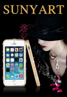 Dropshipping High Quality Bling-bling Metal Bling Diamond Luxury Hard Bumper Frame Case Clear crystal for lPhone 5/5S