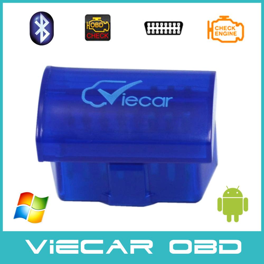 Blue MINI Viecar 2.0 obd2 bluetooth ELM327 Interface Car diagnostic tool elm327 bluetooth obd2 Auto Code Scanner(China (Mainland))