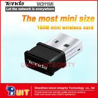 Free Shipping Tenda W311MI NANO 150Mbps  Super Mini WiFi Wireless-N WLAN  USB Adapter supports Soft AP