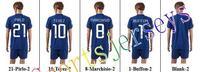 Free shipping-2014/15 Season #21 Pirlo Away jersey&short,Soccer team uniforms