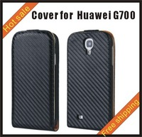 Free shipping --New high quality more colours leather case mobile phone cellphone for more colour Huawei G700