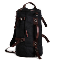 2014 Large Capacity Vintage man's Casual Sport outdoor mountaineering backpack hiking camping canvas bucket shoulder bag online