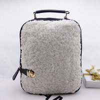 New winter plush backpack girl Korean version  fashion trends backpacks student bag leisure small shoulder bags bp0639