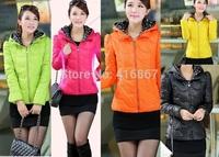 new 2014 Outerwear Women coat Winter Down Jacket down casual winter jacket women thin long-sleeve wadded plus Size parka dot