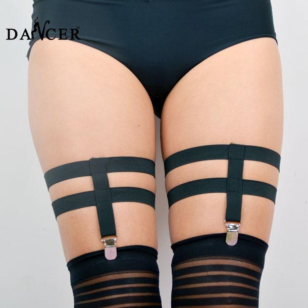 woman sexy garter belts leg garter handmade cinta liga lingerie harajuku gothic rhinestone garter harness belt body cage harness(China (Mainland))