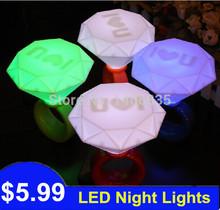 Diamond Ring LED Light USB Night Light Romantic Lamp Night Indoor Lighting with Nice Gift Box Valentine's Gift Christmas Present(China (Mainland))