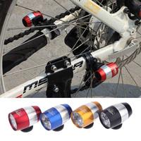 Aluminium Alloy Ultra Bright 6 LED Bicycle Bike Front White Head Light Mini Safety Cycling Lamp Flashlight 2 Modes Waterproof