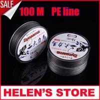 100M dyneema Brand Super Strong high quality Japan Multifilament PE Braided Fishing Line linha de pesca free shipping